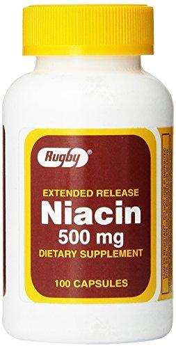 Расширенный выпуск ниацина 500 мг 100 капсул