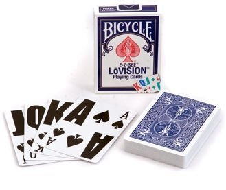 Bicycle Lo- Vision Playing Cards Blue (Large Print Playing Cards)