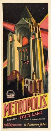Metropolis Insert Movie Poster 14X36 #01