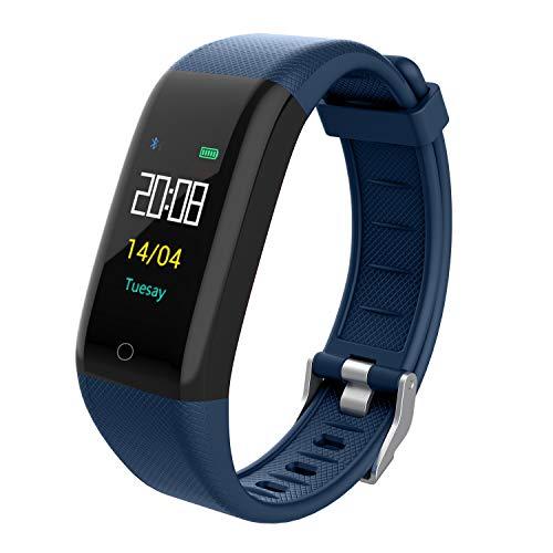 VERSUSWOLF Fitness Tracker Smart Watch Activity Tracker Sports Smart Waterproof Bracelet with Heart Rate Monitor Pedometer Sleep Monitor Calorie Step Counter Blood Pressure for Women Men Kids (blue-1)