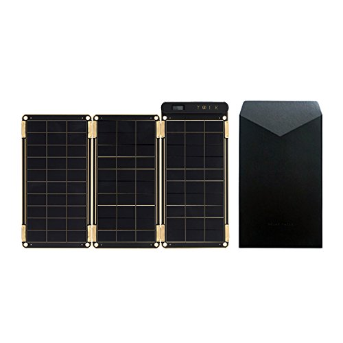 Solar Paper + Pouch, Paper-thin and Light Portable Solar Charger with Ultra-High-Efficiency (7.5W) by YOLK