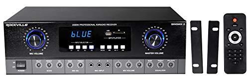 Rockville SingMix 2 2000 Watt Home Receiver Mixing Amplifier