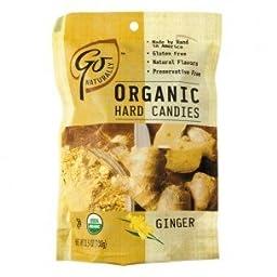 Go Organic Hard Candy - Ginger - 3.5 Oz - Case Of 6