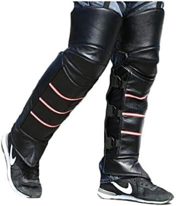 Kaiyitong001 膝パッド、プラスベルベット防風コールドウォームサイクリングレギンス、冬の男性と女性のオートバイ風防レギンス保護ギア、ブラックに乗ります,スタイリッシュで絶妙 (Color : Black)