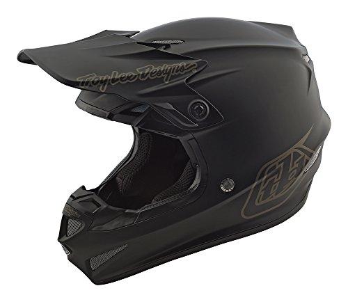 Black Helmet Design - 2018 Troy Lee Designs SE4 Polyacrylite Mono Helmet - Black / Large