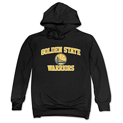 DF Men's Pelicans Golden State Logo Warriors Hoodies Black
