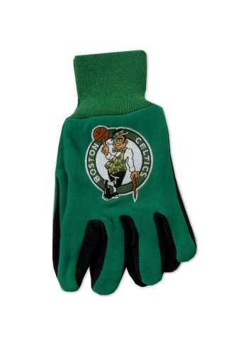 NBA Boston Celtics Two-Tone Gloves, Green/Black (Jersey Wincraft Hat)