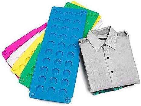 Ototon - Tabla de doblar para la ropa de plástico, tabla de doblar, camiseta, camisa, plisada, ropa, color aleatorio
