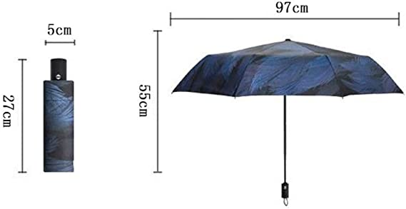 YSLJH Automatic Folding Umbrella Outdoor Light Travel Umbrella Unisex Three Fold Neutral Umbrella Sun Umbrella Portable Windproof Umbrella