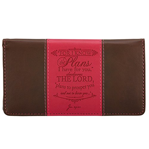 I-Know-the-Plans-Pink-Brown-Checkbook-Cover