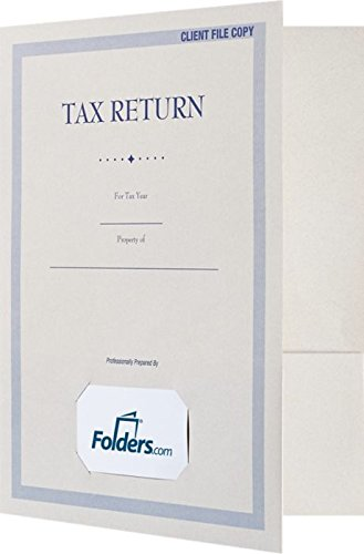 9 x 12 Presentation Folders for Tax Returns w/Two Interior Pockets and Front Card Slit - Natural White (25 Qty) | Perfect for Tax Returns, Tax Documents, Tax Professionals and More | TAX-912-NF80-25 by Envelopes.com