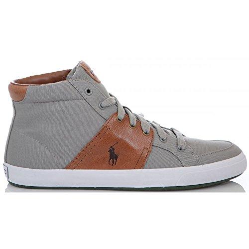 Ralph Lauren scarpe Jamaal ne Museo Grigio/Hun alto Tela Trainer