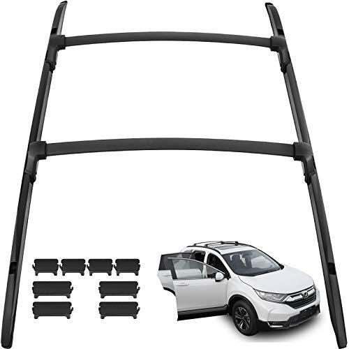 (Mophorn Roof Rack 4Pcs Aluminium Roof Rack Rail for Honda CRV CR-V 2017 2018 Car Luggage Rack Baggage Cross Bar Carrier)