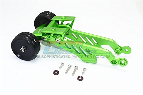 Arrma 1/8 OUTCAST 6S BLX Stunt Truck Upgrade Parts Aluminum Rear Wheelie With Wing Mount - 1 Set Green