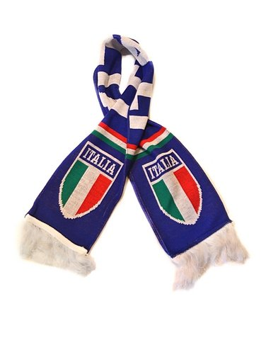 Italy National Soccer Team | Premium Fan Scarf 2014 | Ships Immediately from USA (Football Team Scarf)