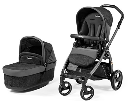 Peg-Perego Book Pop Up Stroller, Circles Grey