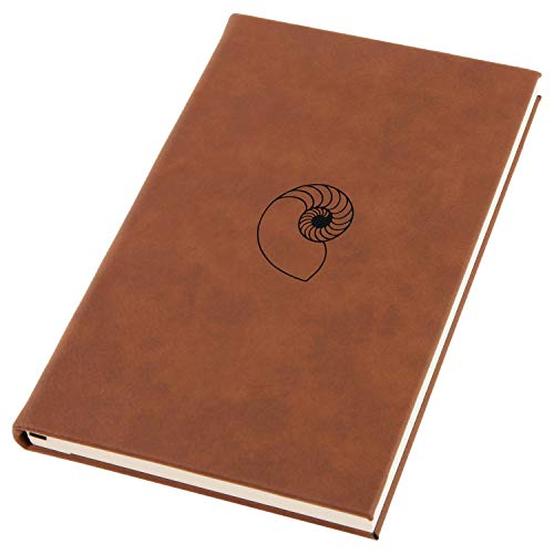 Nautilus Shell Engraved A5 Leather Journal, Notebook, Personal Diary