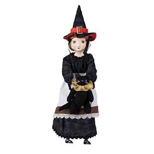 Sarah Witch Girl and Black Cat Doll Figurine by Joe Spencer Gathered Traditions Halloween]()