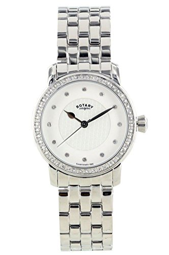Rotary Women's White Dial Crystal Numeral Stainless Steel Bracelet Chronograph LB00120/06