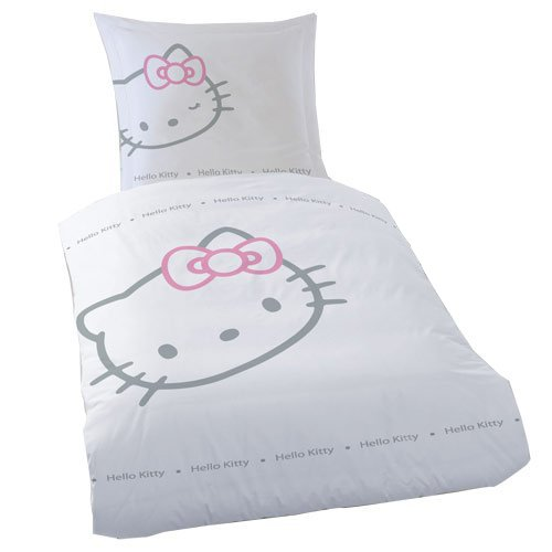 Cti 036867 Bettwäsche Hello Kitty Blinky White 135 X 200 80 X 80