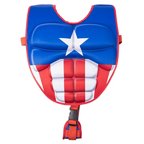 SwimWays Scultped Captain America Swim Vest, Medium/Large