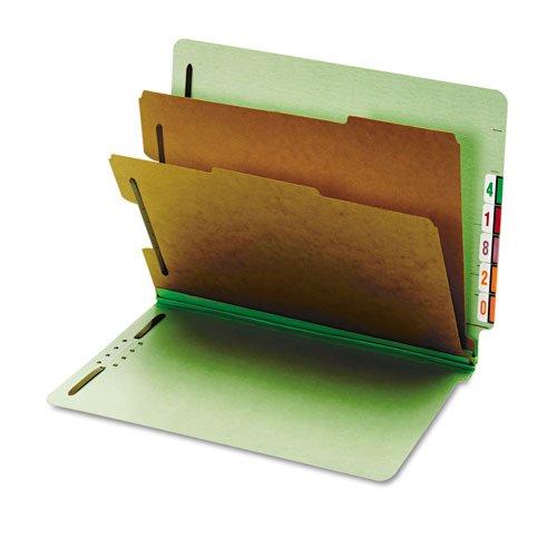 Pressboard End Tab Classification Folders, Six Sections, Letter, Green, 10/Box (並行輸入品) B004E2KJ38