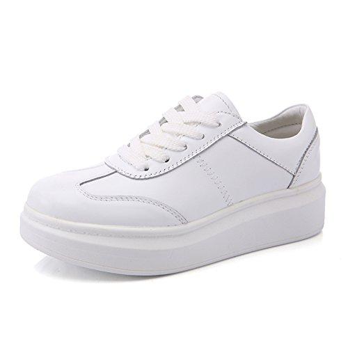 Zapatitos blancos/Zapatos de plataforma/Deportes y ocio zapatos/Zapatos de mujer planos B