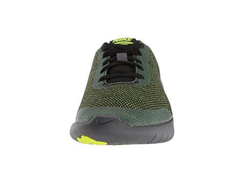 Nike Kids Flex Experience RN 7 (GS) Running Shoes (4 Big Kid M, Black/Metallic Dark Grey/Volt/Dark Grey) by Nike (Image #4)
