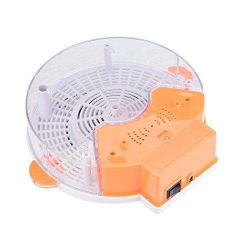 YJYdada Autumatic Electric Purple Light Fly Trap Recharge Device with Trapping Food (With adapter, Orange)