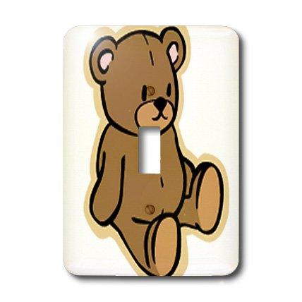 (3dRose LSP_37353_1 Cute Brown Teddy Bear Single Toggle)