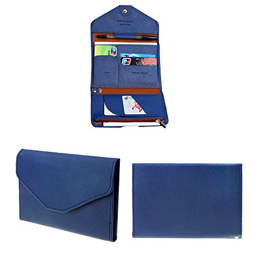 Travel Slim Trifold PU Leather Rfid Block Passport Wallet Cover Credit Card Purse Coin Case Cash Clip Pen Holder