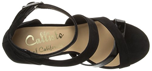 Callisto Women's Dinah Dress Sandal Black Suede 35dDq3OvS7
