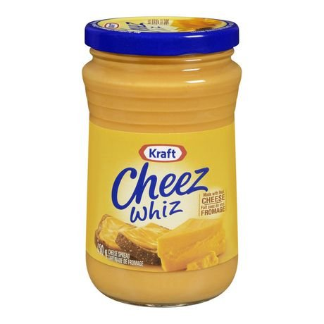 Kraft Cheez Whiz 450 grams each Made with Real Cheese - Imported from Canada by Cheez Whiz