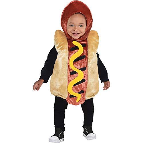 Halloween Costume Hot (AmScan Costumes USA Mini Hot Dog Infant Costume (6-12)-6-12 Months)