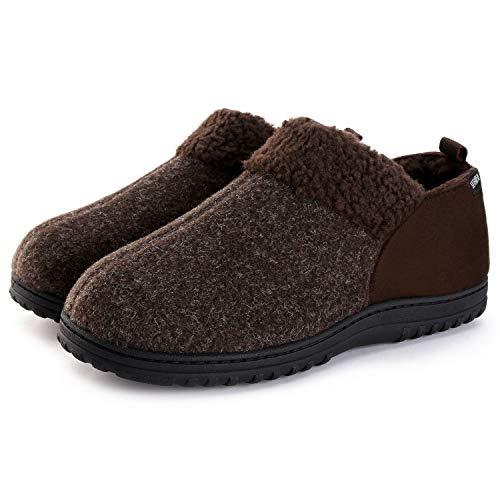 Moccasin Slippers Micro Suede Coffee Men's Blend Like ULTRAIDEAS Wool qYSwYB