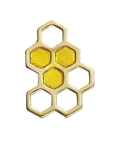 OutletBestSelling Pendants Beads Bracelet Honeycomb 24mm Gold Plated Enamel Honey Bee Charms 2pcs