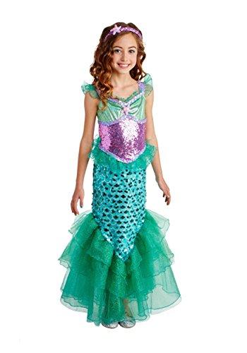 Happy Haunts Blue Seas Mermaid Costume, Medium 8-10