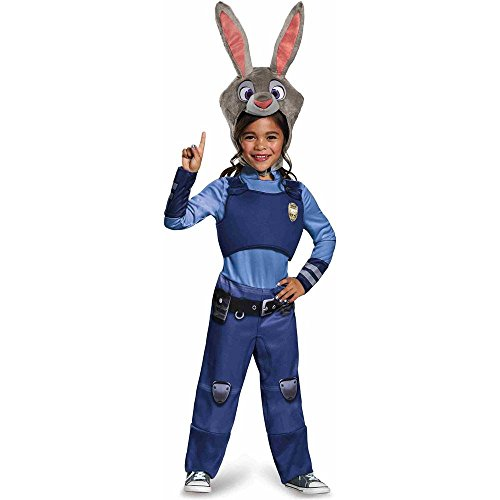 Judy Hopps Classic Zootopia Disney Costume, (Unique Costumes Kids)