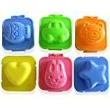 Yunko 6set Fish Car Heart Shape Egg Sushi Rice Mold Mould Decorating Fondant Cake Tool