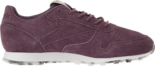 Reebok Womens Cl Lthr Shmr Fashion Sneaker Meteoriet / Wit Rose Goud