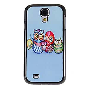 The Happy Owl Family Pattern Mirror Smooth Back Hard Case with HD Screen Film 3 Pcs for Samsung S4 I9500