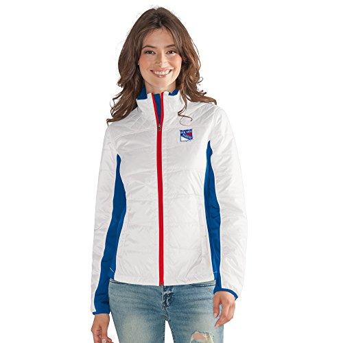 GIII For Her NHL New York Rangers Women's Grand Slam Full Zip Jacket, Large, White ()
