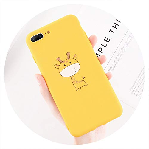 Phone Case for iPhone 6 6s 7 8 Plus X XR XS Max 5 5s SE Fashion Cute Cartoon Animal Giraffe Cat Soft TPU for iPhone 8,Giraffe,for iPhone 7 Plus