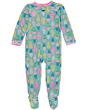 Carters Toddler Girls Blue Ice Cream Cone Footie Sleeper Sleep & Play