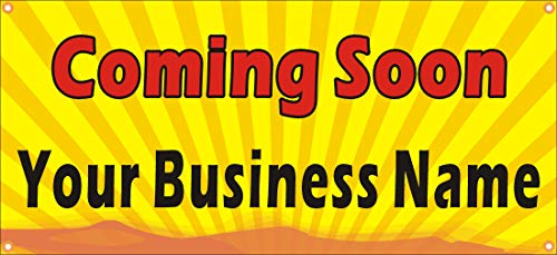 [Vinyl] Alice Graphics 22inX48in Custom Printed Coming Soon Banner Sign with Your Business Name
