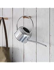 CKB LTD® - Regadera de interior (1,1 L, acero galvanizado, revestimiento en polvo de tiza, para plantas de interior, diseño de metal contemporáneo con boquilla estrecha y mango alto)