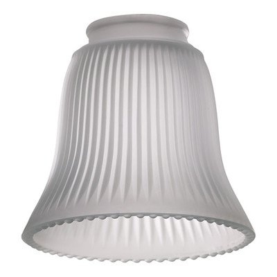 Frost Ribbed Bell Glass Shade for Ceiling Fan Light Kit