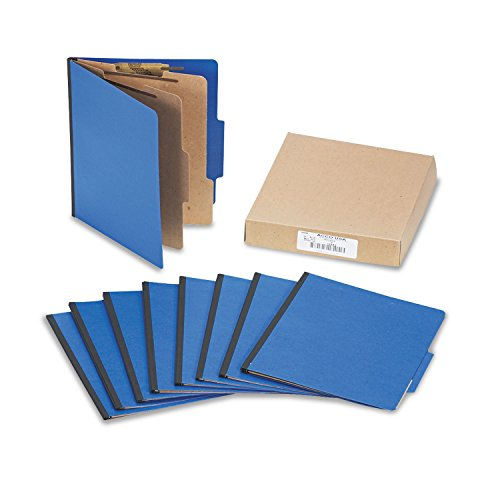 (ACCO 15663 ColorLife PRESSTEX Classification Folders, Letter, 6-Section, Dark Blue, 10/Box)
