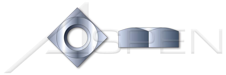 Zinc Plated Regular Square Nuts 30 pcs 1-1//8-7 Steel