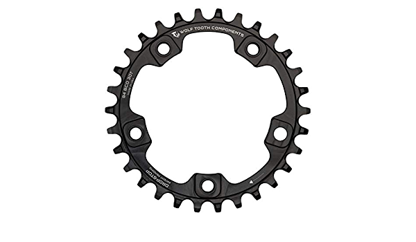 30t 96 Asymmetric BCD 4-Bolt Drop-Stop For Shimano Wolf Tooth 96 BCD Chainring